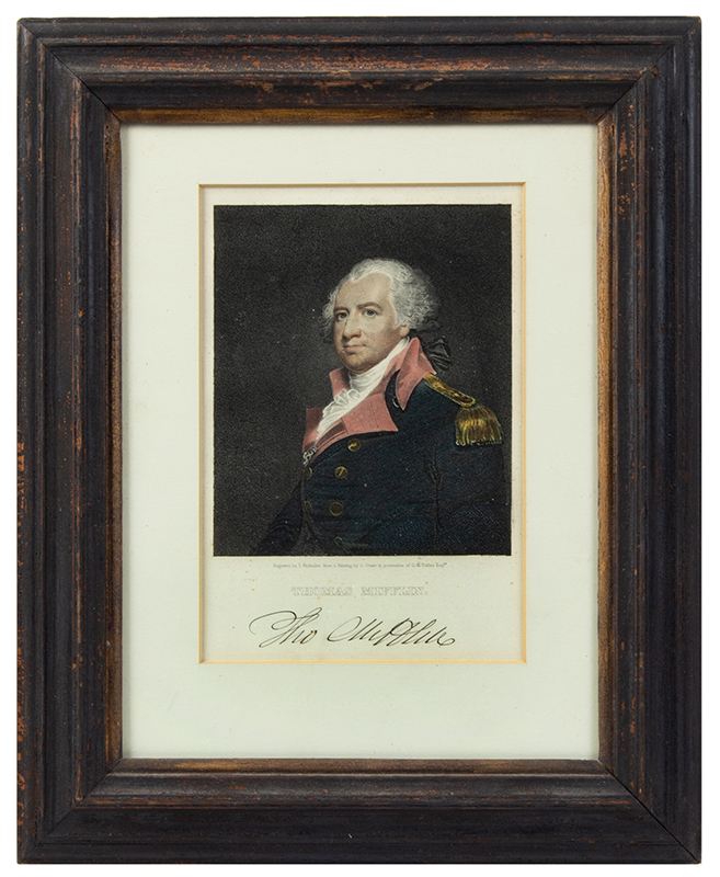 Engraving, Thomas Mifflin by Edward Wellmore After a Painting by Gilbert Stuart in possession of G.M. Dallas Esqr., entire view