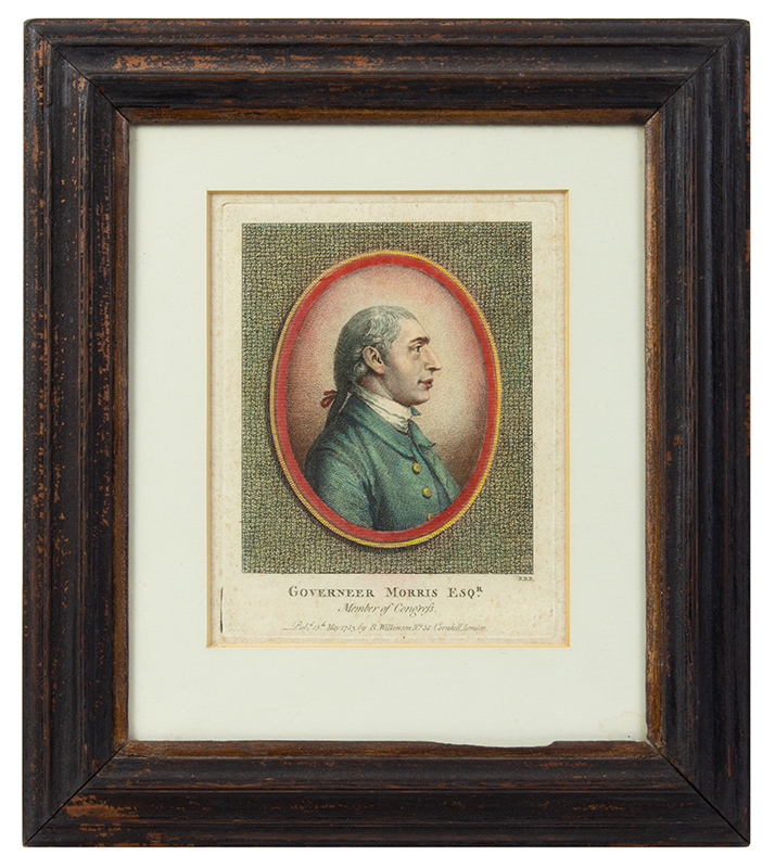 Stipple and Line Engraving, Governeer [sic] Morris Esqr., Member of Congress Artist: Benjamin Beale Evans Founding Father Who is Known as the Penman of the Constitution, entire view