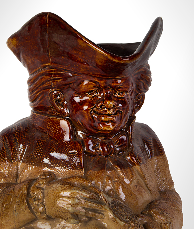 Doulton Lambeth Stoneware Toby Jug Base Inscribed Manufactured for Phillips Oxford St London, detail view 1