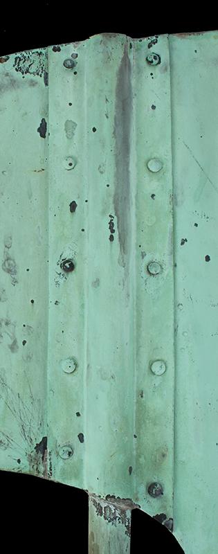 Antique Weathervane, Great Blue Heron, Unique, Best Verdigris Surface, detail view 2