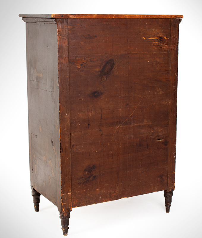 19th Century Pennsylvania Child's Paint Decorated Chest of Drawers, Rare Possibly Joseph Lehn, Elizabeth Township, Lancaster County, Pennsylvania, entire view 3