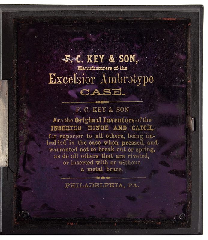 American Thermoplastic Photograph Case, Bust of Henry Clay on Cover Exceedingly Rare, interior
