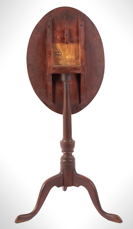 Fine Country Candlestand in Original Red Paint, Tip-Top, entire view 4