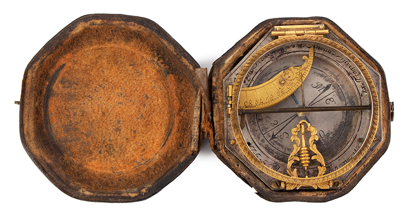 Equinoctial Compass Sundial by Johann Martin, (1642-1721) Augsburg, Germany, entire view 1