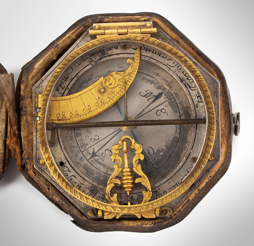 Equinoctial Compass Sundial by Johann Martin, (1642-1721) Augsburg, Germany, entire view 2
