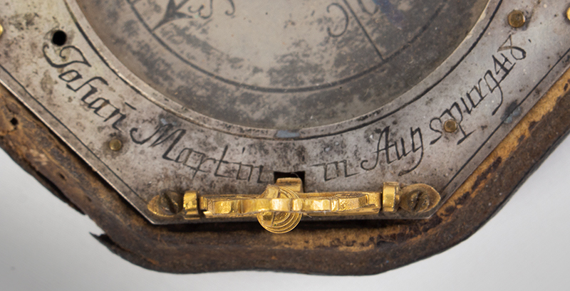 Equinoctial Compass Sundial by Johann Martin, (1642-1721) Augsburg, Germany, detail view 2