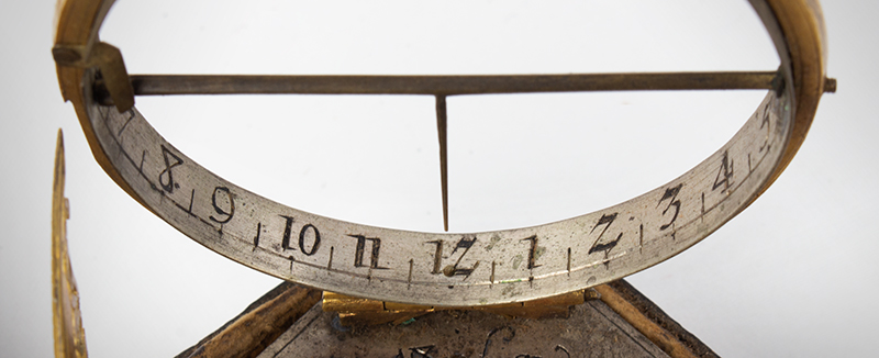 Equinoctial Compass Sundial by Johann Martin, (1642-1721) Augsburg, Germany, detail view 3