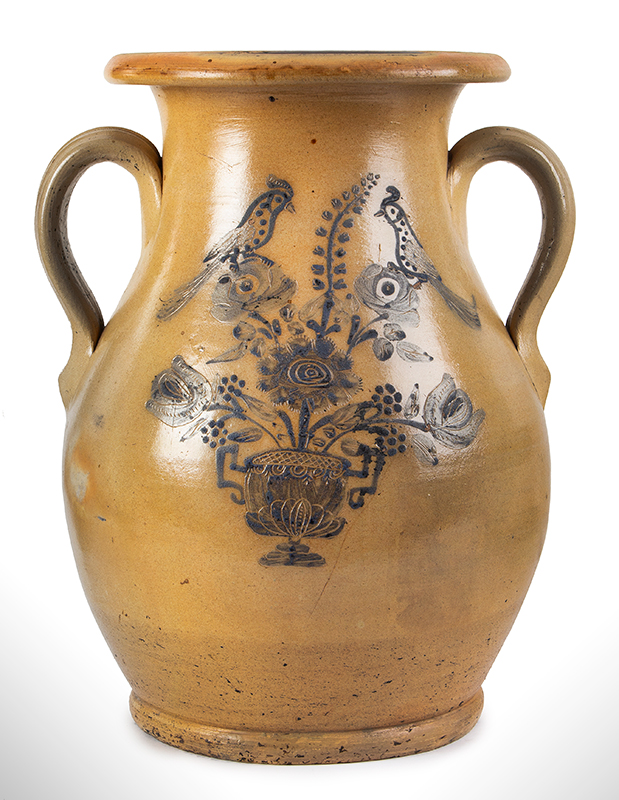 Stoneware, Jar, Somerset Pottery (Attributed), Outstanding Decoration Likely Somerset Pottery Works, Somerset, Massachusetts (Active 1847-1882), entire view