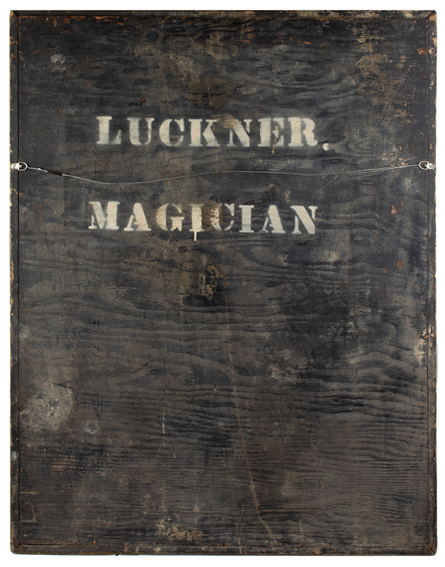 Trade Sign, Painted, Luckner / Master Magician & Illusionist, America, back view