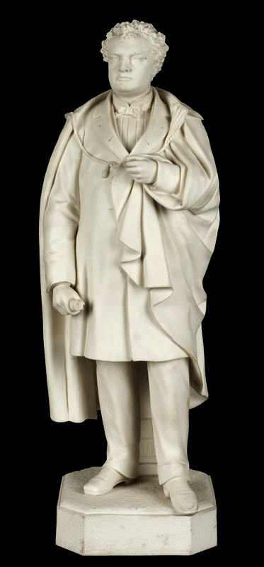 Parian Figure, Massachusetts Governor John A. Andrews, After Martin Milmore Boston [Governor: 1861-1866], entire view 1