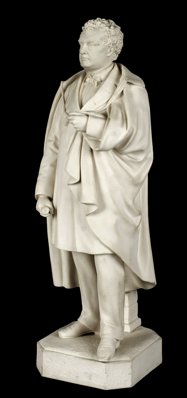 Parian Figure, Massachusetts Governor John A. Andrews, After Martin Milmore Boston [Governor: 1861-1866], entire view 2