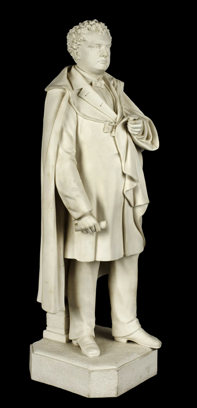 Parian Figure, Massachusetts Governor John A. Andrews, After Martin Milmore Boston [Governor: 1861-1866], entire view 3