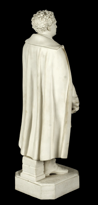 Parian Figure, Massachusetts Governor John A. Andrews, After Martin Milmore Boston [Governor: 1861-1866], entire view 4