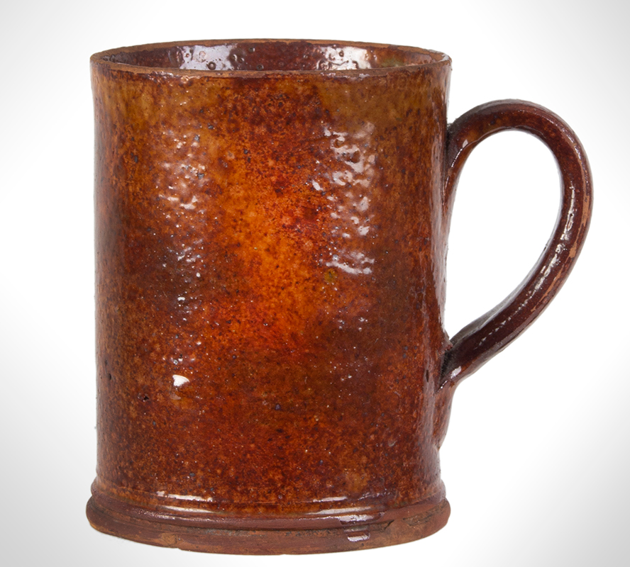 Redware Mug, Possibly Bristol County, Massachusetts, Coastal, entire view 2