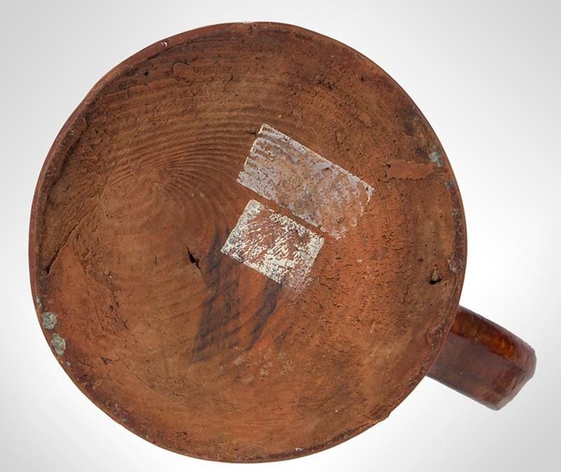 Redware Mug, Possibly Bristol County, Massachusetts, Coastal, bottom view