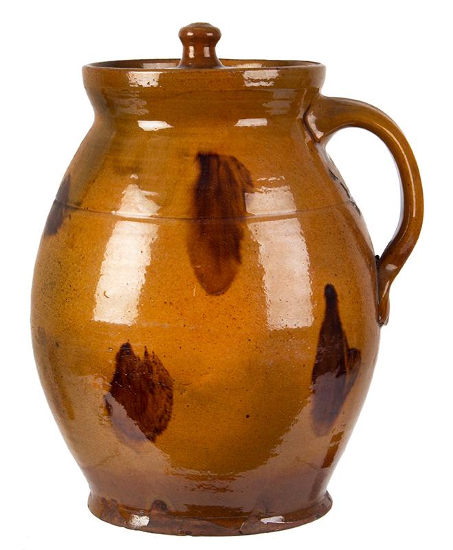 Redware Stew Pot, Lidded Jar, Pecker Pottery, Merrimackport, Massachusetts, entire view 1