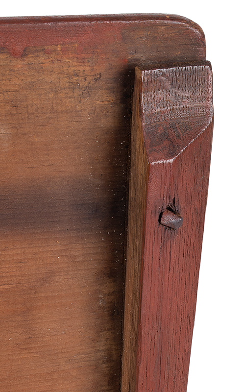 Early Eighteenth Century Bible Box, New England, Likely Massachusetts, detail view 2