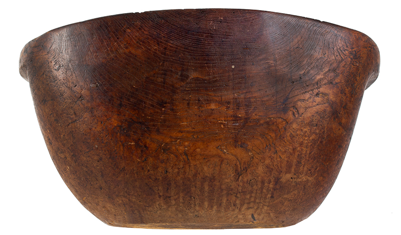 Eighteenth Century, Native American Carved Burl Bowl, Great Size & Patina Woodlands, New England, entire view 3