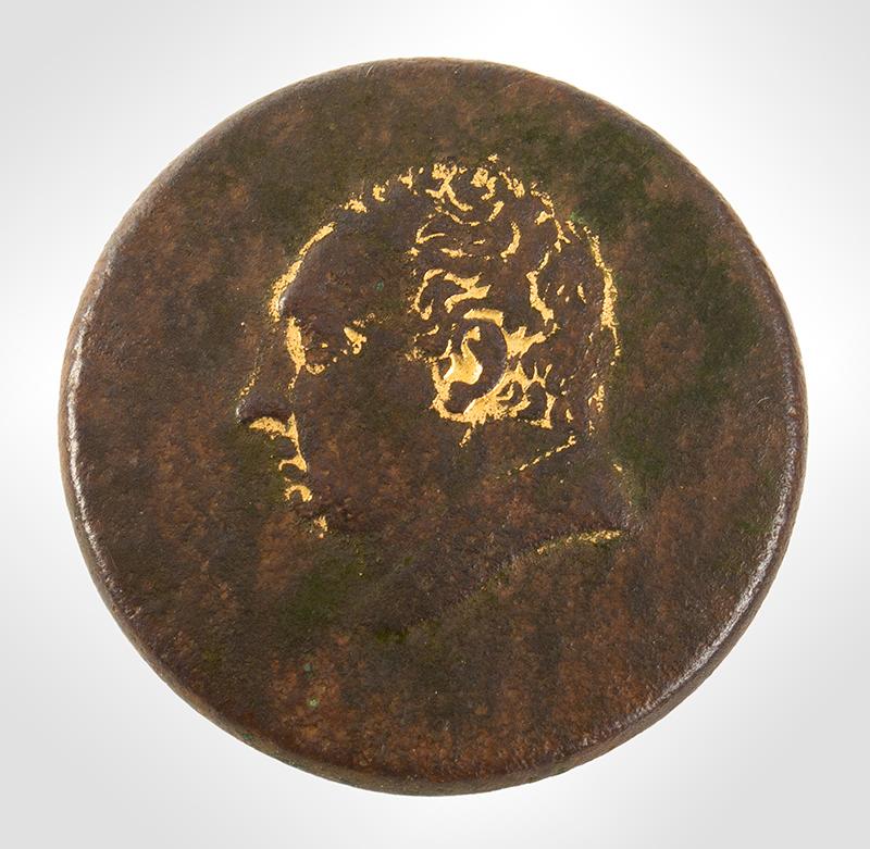 Marquis De Lafayette Medallion Button, LH & Scovill, Albert PC 31-B1, entire view