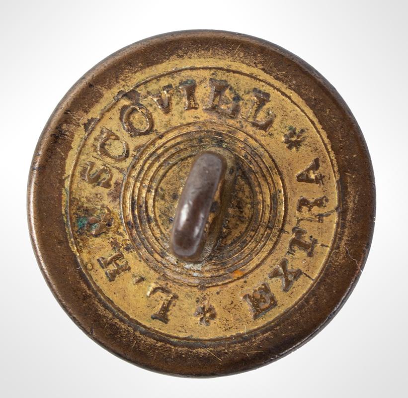 Marquis De Lafayette Medallion Button, LH & Scovill, Albert PC 31-B1, back view