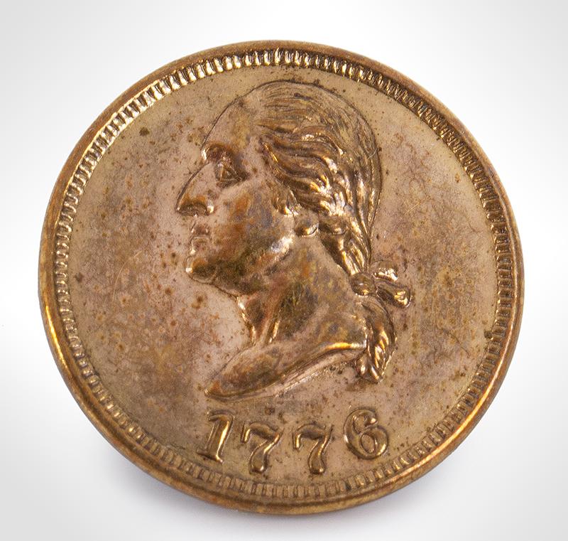 George Washington Commemorative Button, Albert PC 52, entire view