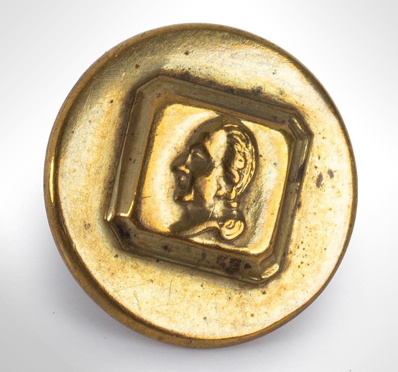 George Washington Commemorative Button, Albert PC 48, entire view