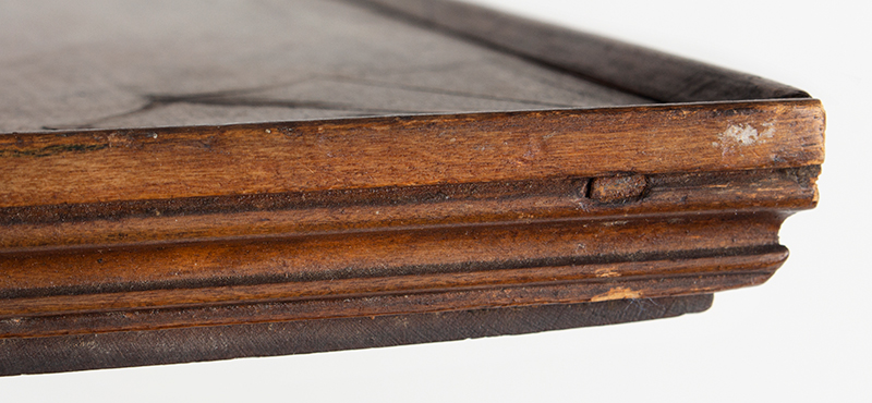 Antique Candlestand; Federal Inlaid Cherrywood Table, Tray Top, Candle Drawer Connecticut River Valley, Circa 1780-1820 Cherry, detail view 5