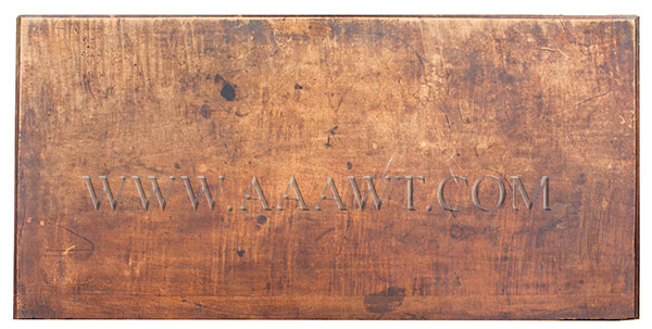 New England Chest, Four Drawer, Original Surface, and Brasses South Shore, Massachusetts, top view