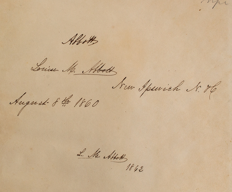 New Ipswich New Hampshire Account Book-Daybook, Louise M Abbot, detail view 1