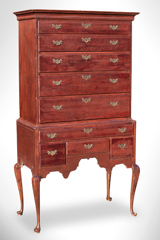 Queen Anne Highboy Featuring Outstanding Apron, Massachusetts, entire view 2