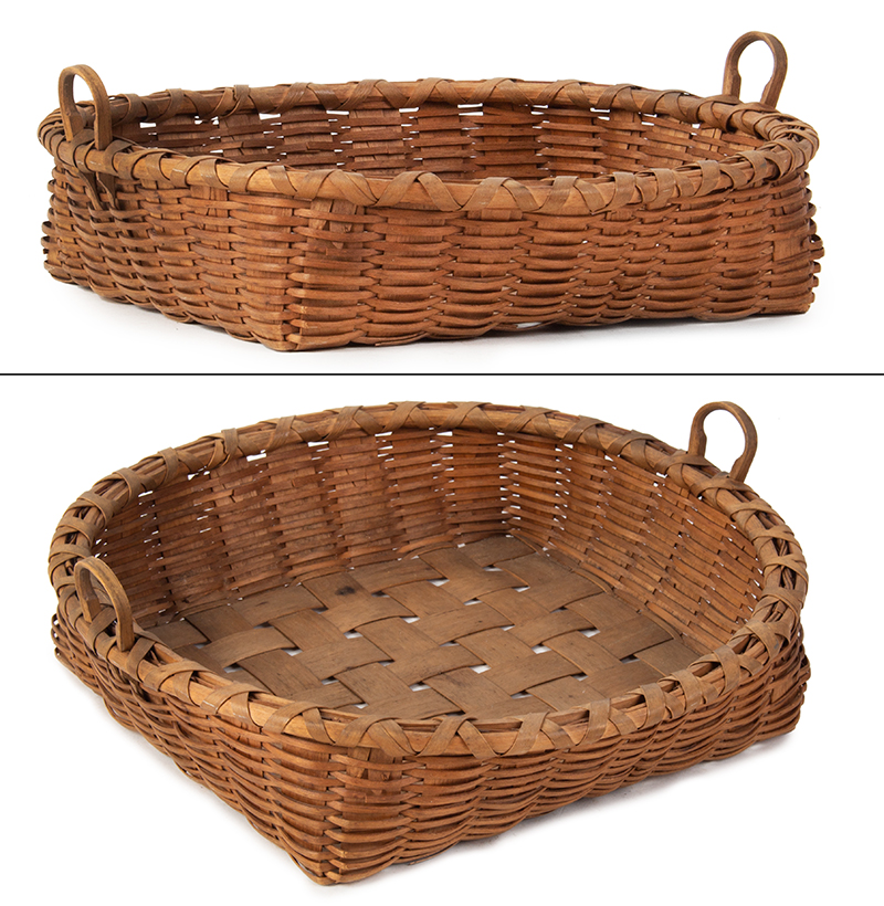 Unusual Taconic 2 Handles Basket, entire view