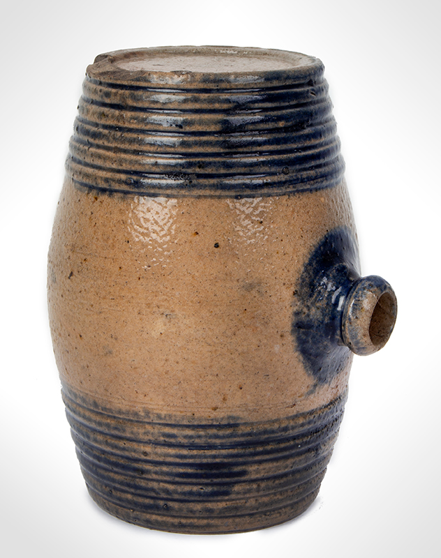Cobalt decorated stoneware rundlet