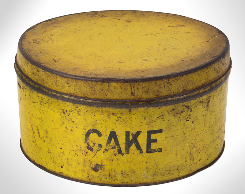 Chrome yellow, Cake Tin, entire view