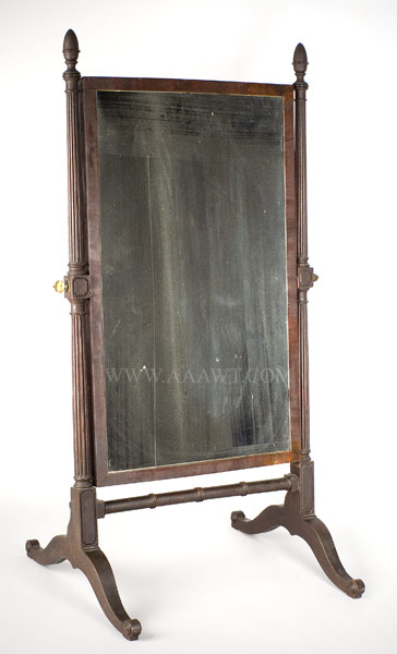 American Looking Glass on Stand, Cheval Glass, entire view 2