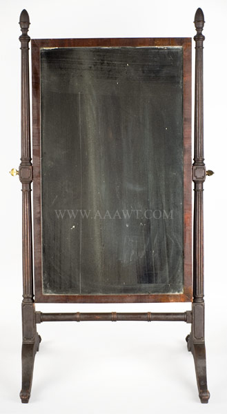 American Looking Glass on Stand, Cheval Glass, entire view 1