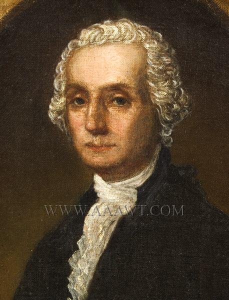 Portrait, George Washington, entire view sans frame