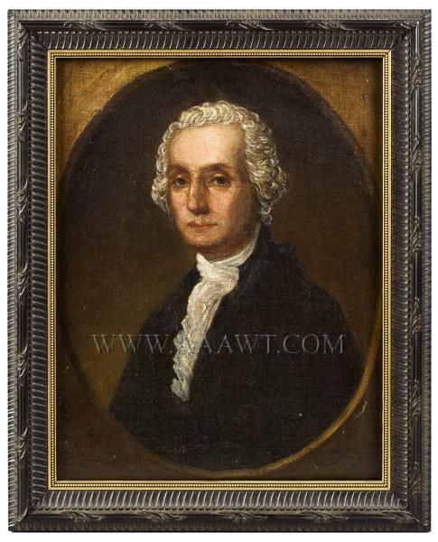Portrait, George Washington, entire view