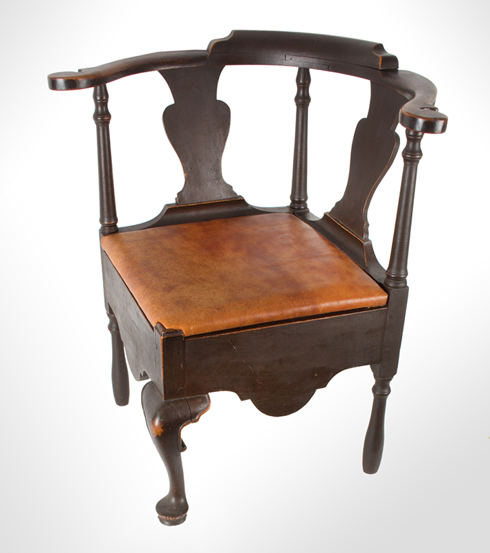 Near Pair of Roundabout Chairs by a Single Maker in Same Shop, Original Surface New England, Circa 1775-1800 Maple, angle view 3