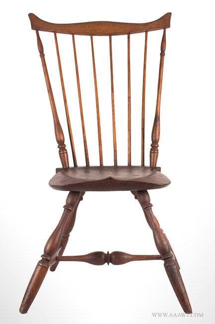 Antique Fan Back Windsor Side Chair, Circa 1780, entire view