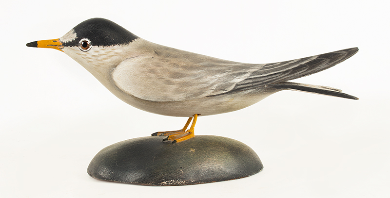 Elmer Crowell, (1862-1952), Carved and Painted Decorative Least Tern East Harwich, Massachusetts, entire view 1
