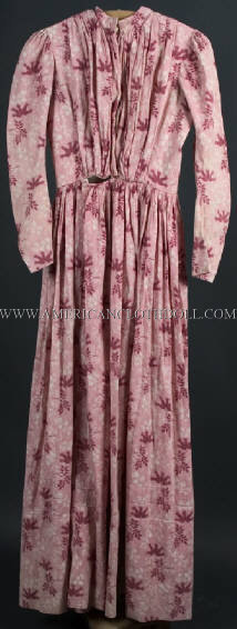 1850s Dress, Reworked from earlier style