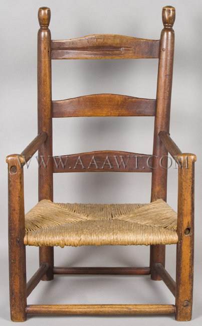 Early New England Child's Armchair Mid 18th Century, entire view