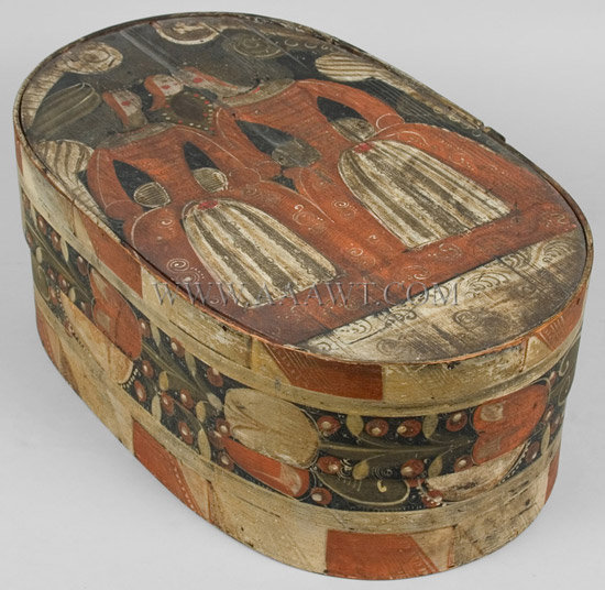 Box, Brides Box, Bentwood 19th Century, entire view