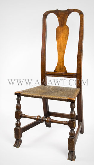 Queen Anne Fiddle-Back Side Chair
