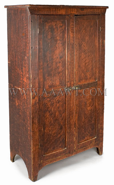 Paint Decorated Jelly Cupboard  Anonymous  1st Half 19th Century, entire view