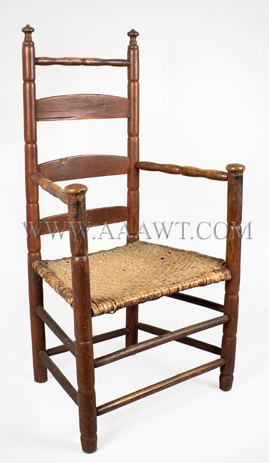 Turned Slat-Back Arm-Chair