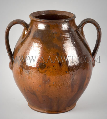 Redware Ovoid Jar Anonymous 19th Century, entire view