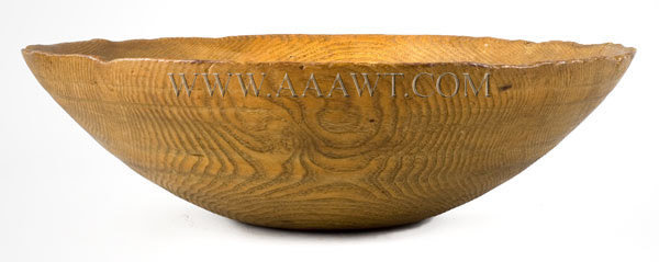 Mixing Bowl, Chestnut New England 18th Century, entire view