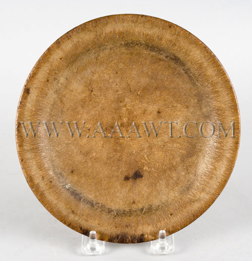 Treen Eating Plate New England Circa 1800, entire view
