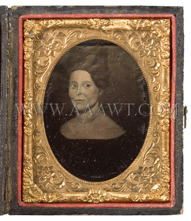 Folk Portrait of a Woman Attributed to Sheldon Peck (1797-1868) Circa 1835, entire view